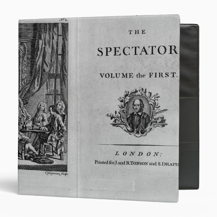 Title page of first volume of collected 3 ring binder