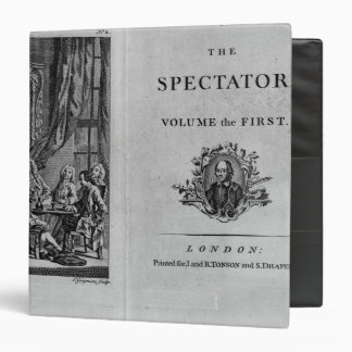 Title page of first volume of collected binder