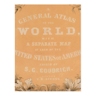 Title Page of General Atlas of the World Postcard