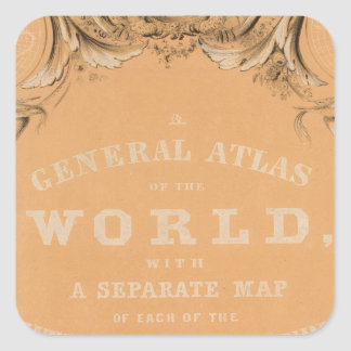 Title Page of General Atlas of the World Square Sticker