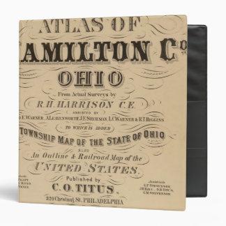 Title Page of Hamilton County Atlas Binder