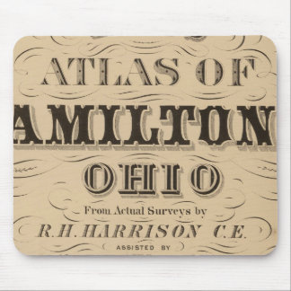 Title Page of Hamilton County Atlas Mouse Pad