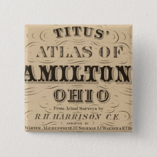 Title Page of Hamilton County Atlas Pinback Button