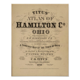 Title Page of Hamilton County Atlas Poster