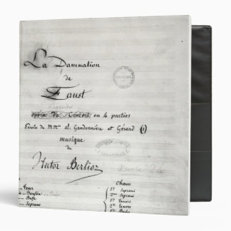 Title page of 'La Damnation de Faust' Binder