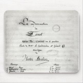 Title page of 'La Damnation de Faust' Mouse Pad