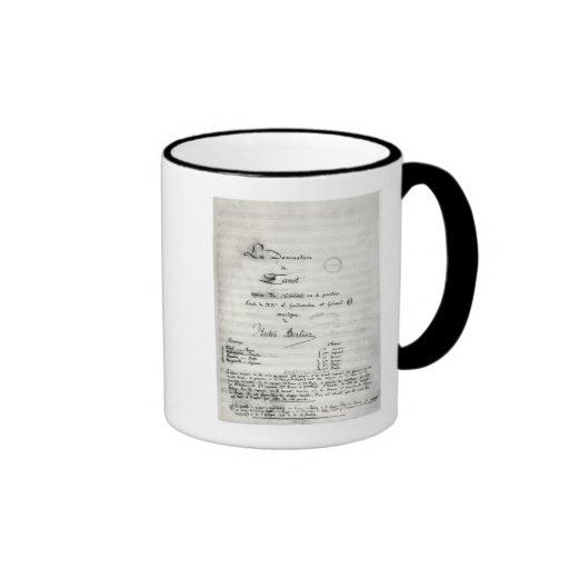 Title page of 'La Damnation de Faust' Coffee Mug