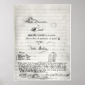 Title page of La Damnation de Faust Poster