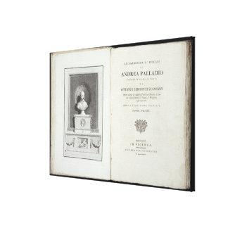 Title page of 'Le Fabbriche e i Disegni di Andrea Canvas Print