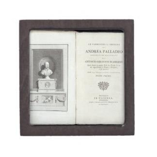 Title page of 'Le Fabbriche e i Disegni di Andrea Jewelry Box