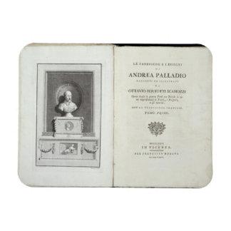 Title page of 'Le Fabbriche e i Disegni di Andrea Rectangular Photo Magnet