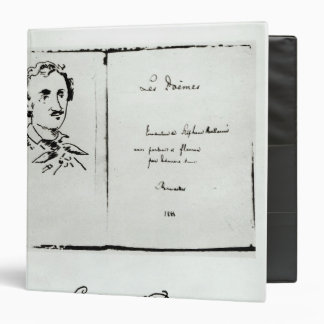 Title Page of 'Les Poemes' by Edgar Allan Poe 3 Ring Binder
