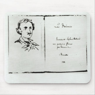 Title Page of 'Les Poemes' by Edgar Allan Poe Mouse Pad