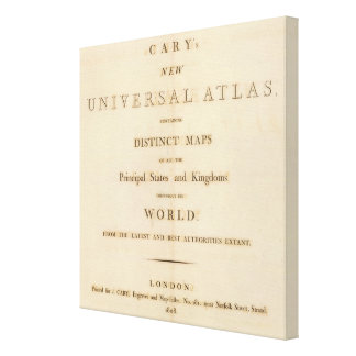 Title Page of New universal atlas Canvas Print