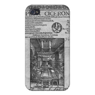 Title page of 'Opera Ciceronis', published 1520 iPhone 4 Cover