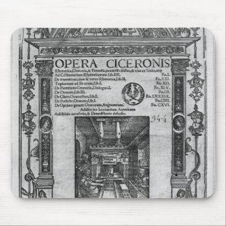 Title page of 'Opera Ciceronis', published 1520 Mouse Pad