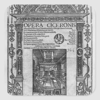 Title page of 'Opera Ciceronis', published 1520 Square Sticker