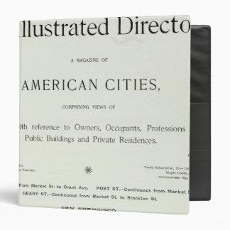 Title Page of San Francisco California Vinyl Binders