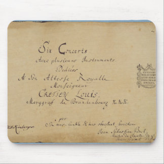 Title page of the 'Brandenburg Concertos' Mouse Pad