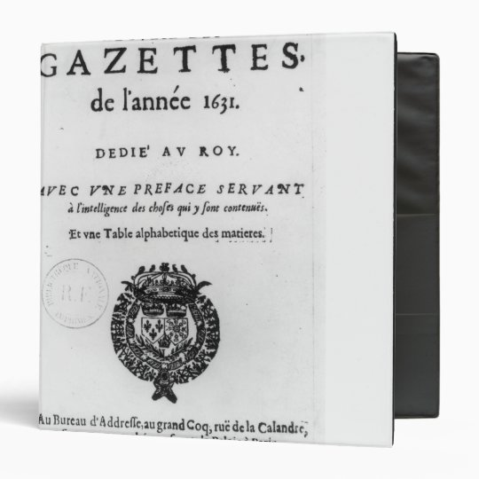 Title page of the first collection of 'La 3 Ring Binder