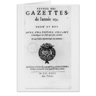 Title page of the first collection of 'La Card