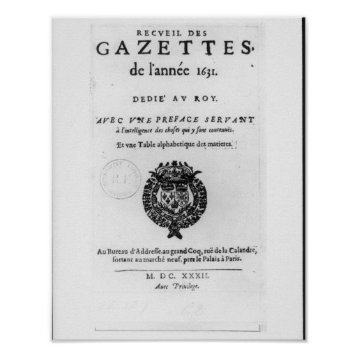 Title page of the first collection of 'La Poster