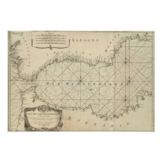 Title Page of the Mediterranean Sea Map Poster