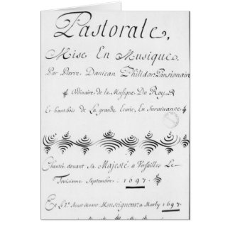 Title page of the 'Pastorale' Card