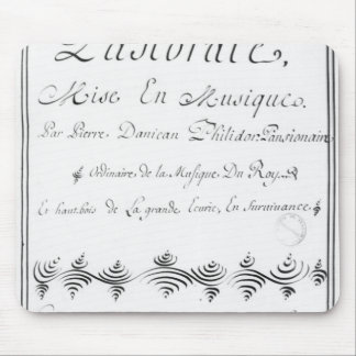 Title page of the 'Pastorale' Mouse Pad
