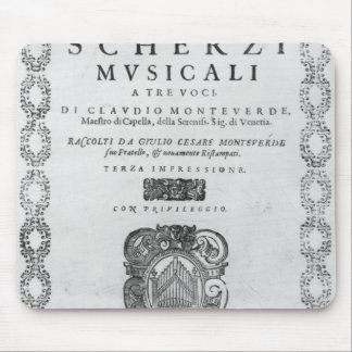 Title page of the 'Scherzi Musicali' Mouse Pad