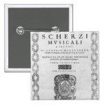 Title page of the 'Scherzi Musicali' Pin
