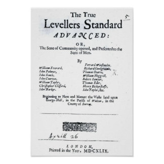 Title page of The True Levellers' Standard Poster