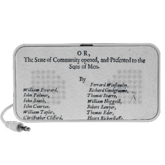 Title page of The True Levellers' Standard iPhone Speaker