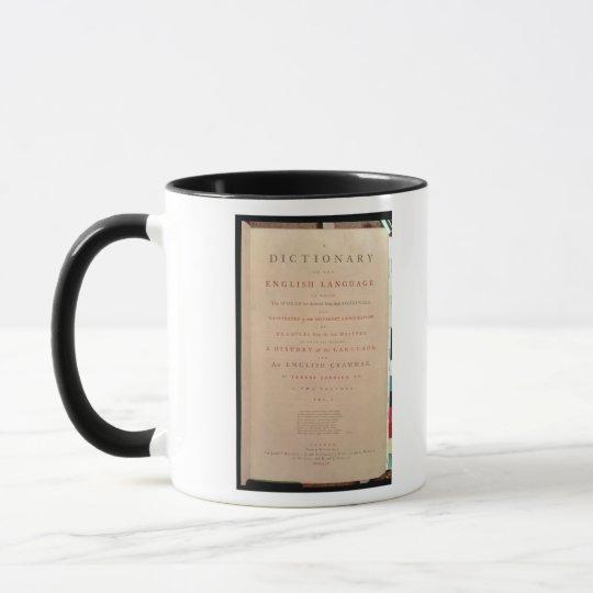 Title page of volume I of the English Mug