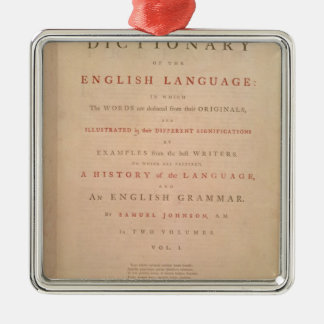 Title page of volume I of the English Christmas Ornaments