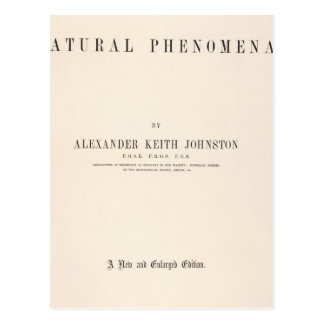 Title Page Physical atlas of natural phenomena Postcard