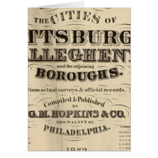 Title Page Pittsburgh, Allegheny atlas Card