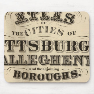 Title Page Pittsburgh, Allegheny atlas Mouse Pad