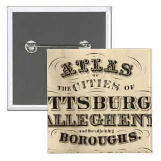 Title Page Pittsburgh, Allegheny atlas Pinback Button