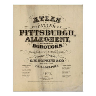 Title Page Pittsburgh, Allegheny atlas Poster