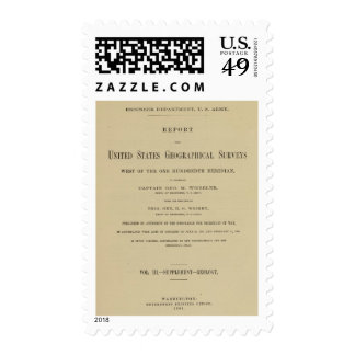 Title Page Report US Geog Surveys Stamp