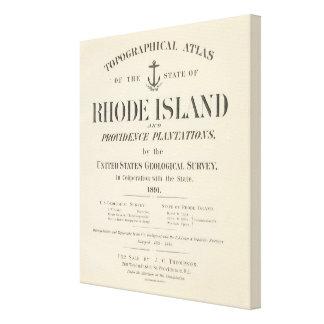 Title Page Rhode Island atlas Canvas Print