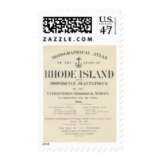 Title Page Rhode Island atlas Postage
