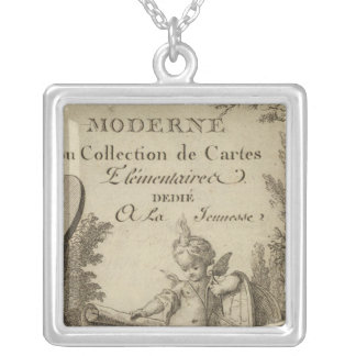 Title Page Small modern atlas Silver Plated Necklace