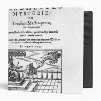 Title page to 'Mischeefes Mysterie Binder