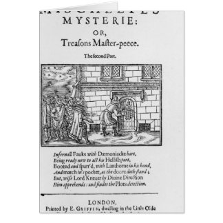 Title page to 'Mischeefes Mysterie or Treasons Card