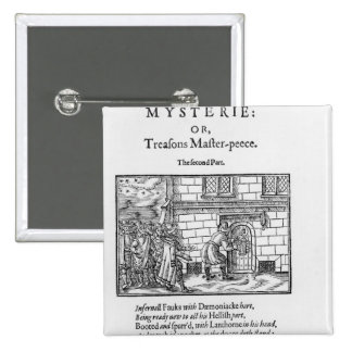 Title page to 'Mischeefes Mysterie or Treasons Pinback Button