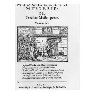 Title page to 'Mischeefes Mysterie or Treasons Postcard
