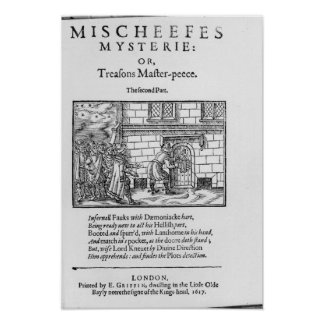 Title page to 'Mischeefes Mysterie or Treasons Poster