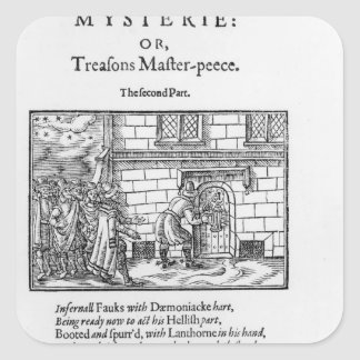 Title page to 'Mischeefes Mysterie or Treasons Square Sticker